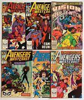 West Coast Avengers 48 49 53 57 60 Marvel Lot WandaVision Scarlet Witch 1989-90