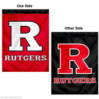 Rutgers Scarlet Knights Two Sided House Flag