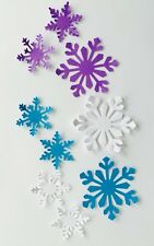 ExLarge & Med - 24 Total Paper Snow Flakes DieCut Confetti Disney Frozen Party