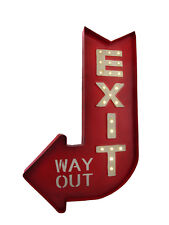 Scratch & Dent Retro Style LED Lighted Marquee Exit Arrow Metal Sign