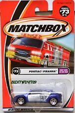 MATCHBOX 2002 KIDS' CARS OF THE YEAR PONTIAC PIRANHA #73 W+