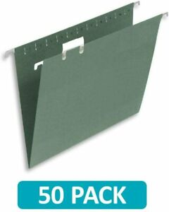 50x Green Hanging Suspension Files Tabs Insert Filing Cabinet Foolscap 36 x 24cm