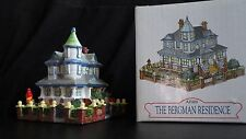 LIBERTY FALLS THE BERGMAN RESIDENCE WESTERN VILLAGE CHRISTMAS SNOW FIGURINE
