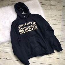 Dated University Of Rochester Navy Blue Hoodie Mens XXL GUC