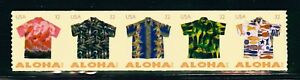 US Scott # 4597-4601 32¢ Aloha Shirts Coil Strip of 5 MNH