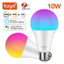 220V TUYA ZIGBEE Smart E27 Dimmable LED Light Bulb 10W RGB+Warm Cool White Lamp