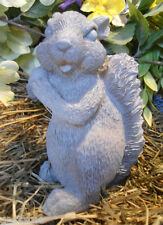 Latex  only standing squirrel w nut statue mold plaster concrete mould