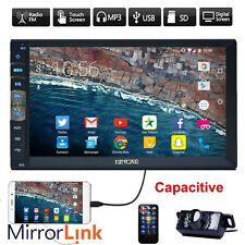 "2 Din 7"" Touch Screen Car Radio BT Stereo Mic MP5 Player AUX Mirror Link +CAMERA"