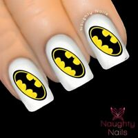 BATMAN Logo Superhero Nail Water Transfer Decal Sticker Art Tattoo