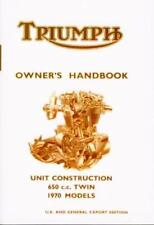 99-0892 Triumph Owner's Handbook Bonneville Tiger 650cc T120 TR6 1970 Manual UK