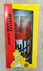 The Simpsons Duff Beer Can Electric Musical Alarm Clock Boxed - Wesco 1999 Rare
