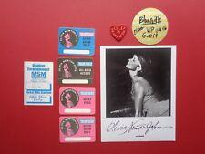 Olivia Newton John,1 promo photo,6 Backstage passes,Rare Originals,heart sticker