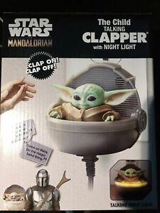 NEW STAR WARS MANDALORIAN GROGU CHILD BABY YODA THE CLAPPER TALKING NIGHT LIGHT