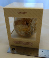 1983 Angels Starburst Designer Glass Hallmark Keepsake Ornament Xmas Tree VTG