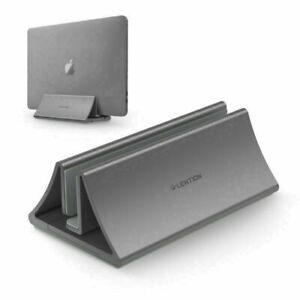 LENTION Aluminum Vertical Adjustable Laptop Stand Desktop Holder for MacBook Pro