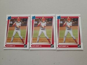 Alec Bohm Lot (3) 2021 Donruss Baseball Rated Rookie #35 Philadelphia Phillies