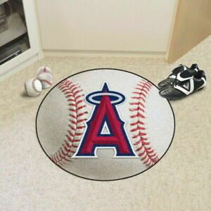 "Los Angeles Angels 27"" Baseball Shaped Area Rug Floor Mat"
