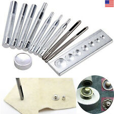 Leather Craft Die Punch Rivet Button Snap Stud Setter Base Tool 6/7/8/9/10/15mm