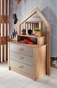 """Kinderkommode Kommode Kinderzimmer Sideboard """"Forester's Hut"""" mit Spiegel"""