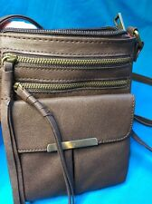 New Claire's Brown Faux Leather Crossbody Bag Purse with Tags Attached