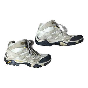 Merrell Women Boots Size 8.5 Moab 2 Mid Ventilator J06048 Taupe
