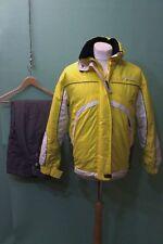 Anzi besson ski traje chaqueta pantalón talla 38/m amarillo gris señora ösv-inscripción *