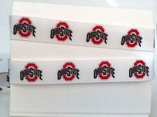 "Ohio State University Buckeyes OSU 7/8"" Grosgrain Ribbon 1, 3, 5, 10 yards"