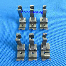 "6 HIGH SHANK PIPING FEET FOOT SET 1/8"" 3/16"" 1/4"" for JUKI SINGER CONSEW"