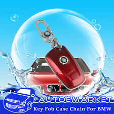 Key Fob Holder Case Chain Cover For BMW F01 F02 F04 F07 F10 F11 E65 E66 Red