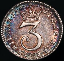 More details for 1763 | george iii 'proof-like' threepence | silver | coins | km coins