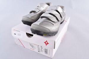Specialized Riata Mountain Bike Shoes Women's Size EU 40 US 9 Silver