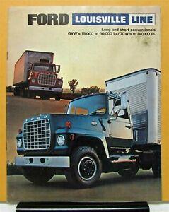 1970 Ford Louisville Long Short Conventional L Series Truck Brochure Dtd 10 69
