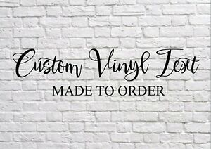 Custom made to order vinyl self adhesive letters numbers text sign writing car
