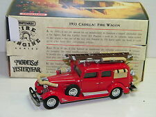 MATCHBOX - CADILLAC 1933 FIRE ENGINE POMPIERS