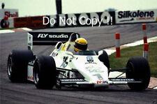 Ayrton Senna Williams FW08C Donington Park Test 1983 Photograph 2