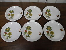 Alfred Meakin Glo-White Sherwood set of 6 side plates 17.4cm diameter