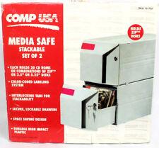 "CompUSA CD/DVD/3.5""/5.25"" Media 2 Locking Stackable Drawers"