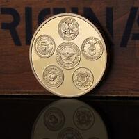 Golden 1991 Golf War Desert Storm Action Military Commemorative Coin Gift-!