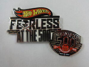 2011 Indianapolis 500 Hot Wheels Fearless Collector Sponsors Lapel / Hat Pin