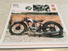 Ficha de moto colección Atlas motorbike Puch 250 T Colibrí 1929