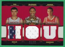 2006-07 Triple Threads YAO MING/TRACY McGRADY/STEVE NOVAK JERSEY Rockets 29/36