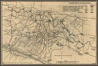 "1863 MAP, Civil War, antique, hand drawn art, Chickamauga, Georgia 20""x14"""