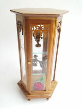 TRINKET CABINET SHADOW BOX CUPBOARD MINIATURE GLASS VINTAGE STORAGE TOOL GIFT