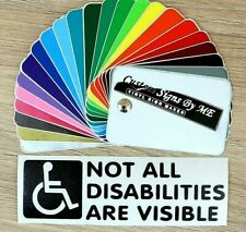Not All Disabilities Are Visible Disabled Badge Car Sticker Vinyl Decal Adhesive
