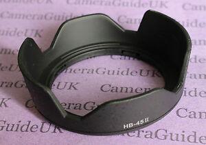 HB-45 II Lens Hood For Nikon AF-S DX NIKKOR 18-55mm F/3.5-5.6G VR Black HB-45