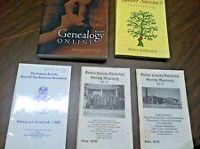 5 GENEALOGY BOOKS Who's your Hoosier Ancestor,Genealogy Online,Fulton Co,Indiana