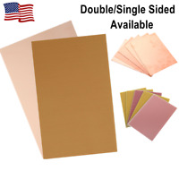 5Pcs Double/Single Side Copper Clad Laminate PCB FR4 Printed Circuit Board US