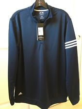 New Adidas 1/4 Zip Pullover Men's Large Navy