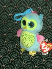 Ty Beanie Boo OPAL Justice Exclusive OWL CLIP 2013 MWMT RARE & RETIRED HTF