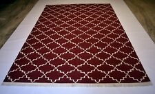 Handmade Geometric Rug Cotton Modern Home & Office Decorative Rug 6x9 Ft DN-532